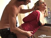PascalsSubSluts – Fucking girlfriend's daughter LEAH in DOGGY, wrists tied