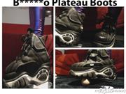 Fetisch-Studentin-Kare – Teen in B*****o Plateau Boots Stiefeln macht Crushing