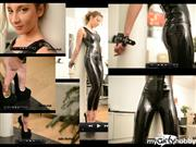 julieskyhigh – 45min Extreme painful standing & whipping in latex & peter chu 20cm
