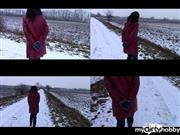 bondageangel – With handcuffs on a dirt road