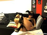 TTorii – Cat mask and sexy lingerie.