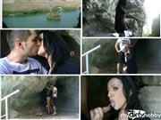 ErikaAnderson – Mountain cave sex and cum in mouth Gothic