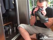 RussianBeauty – Spy my bf sniff my shoes and jerking by it
