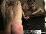 PascalsSubSluts – 20 spanks for APRIL in front of mirror + hard doggy