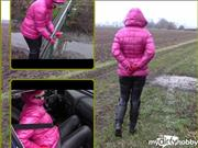 bondageangel – With handcuffs and shiny pink jacket