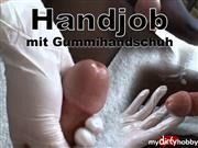 starlight33do – Foot & Handjob mit Gummihandschuh