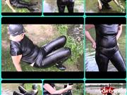 bondageangel – Wet leather outfit