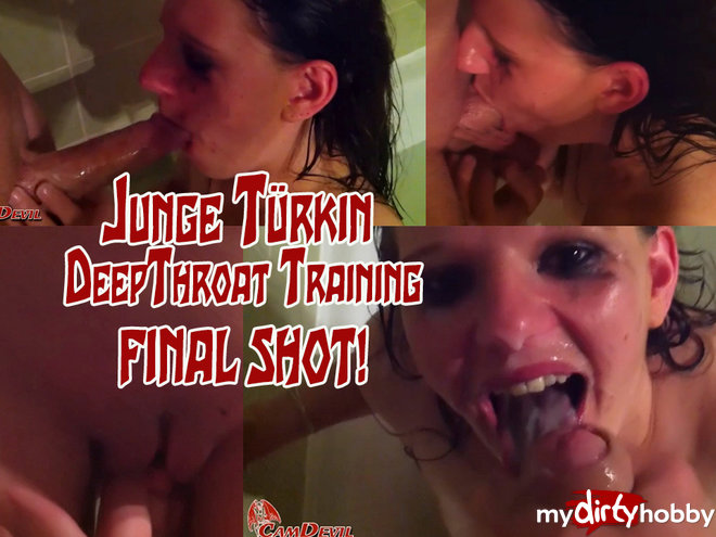 CamDevil in Junge Türkin DeepThroat Training - Final Shot