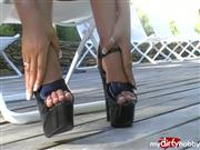 frenchheels – Plattformen 16 cm am Pool
