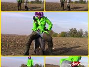 bondageangel – Double pissing, waders Lady and a slave in wellies