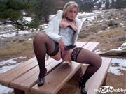 AutumnPeach – Piss on Picnic Table in Public Wearing Lingerie