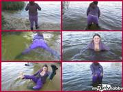 Snejka – wetting clothes in water (3)