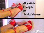 Footjob-Paar – GloryHole Footjob