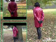 bondageangel – With handcuffs in city park