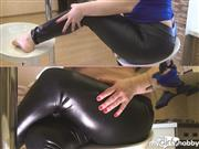 BustyAnnet93 – Say WOW, Leggings Series Pt 3. Sounds Of Leggings, Chair, Naughty Boob