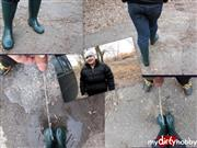 Snejka – outdoors in rubber boots