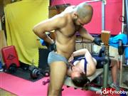 NataliaAndArami – workout to fuck in sneakers in gym part 2