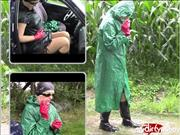 bondageangel – Raincoat, wellies, handcuffs and cigarette smoking