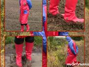 bondageangel – Handcuffs, dirty wellies and raincoat