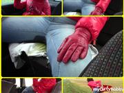 bondageangel – Pee in the car 9.