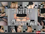 Dominique-Plastique – Tragevideo – Gestreifter Tanga